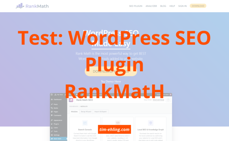 Test: WordPress SEO Plugin RankMath